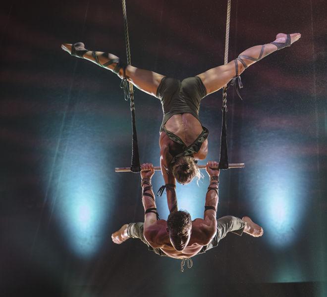 Duo Trapeze. Milena Beneke, Germany; Christopher Hartwig, Germany.